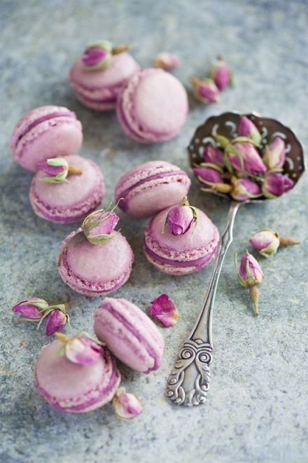 macarrores dulces rosas