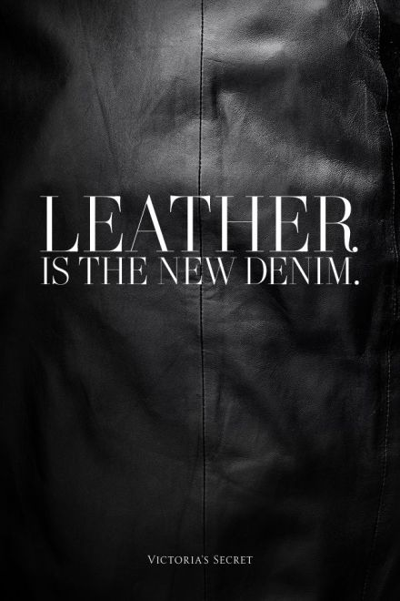 leather is the new demin